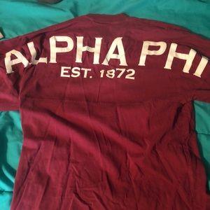 Alpha phi Maroon Spirit Jersey
